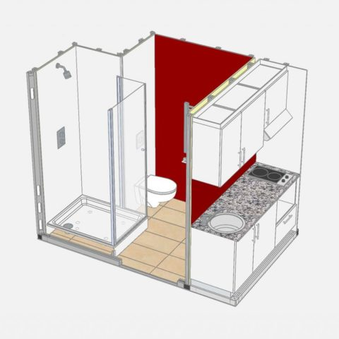 Prefabricated 3d Combo Pods 01