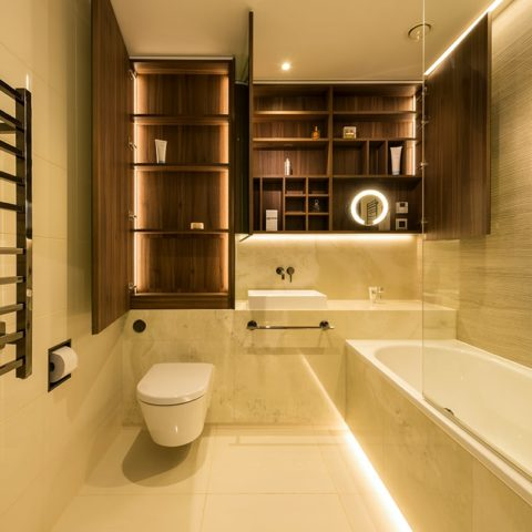 Luxury apartment prefabricated bathroom pod version 3