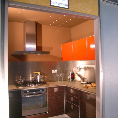 High-level apartment prefabricated kitchen pod version 4