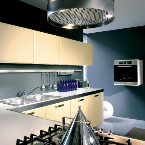 High-level apartment prefabricated L-shaped kitchen 2