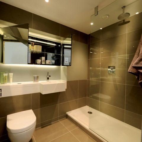 Luxury apartment prefabricated pod, shower 3 pieces