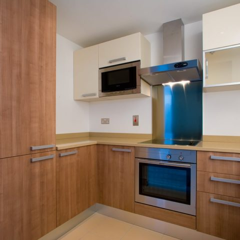 Mid-level apartment prefabricated kitchen pod version 1